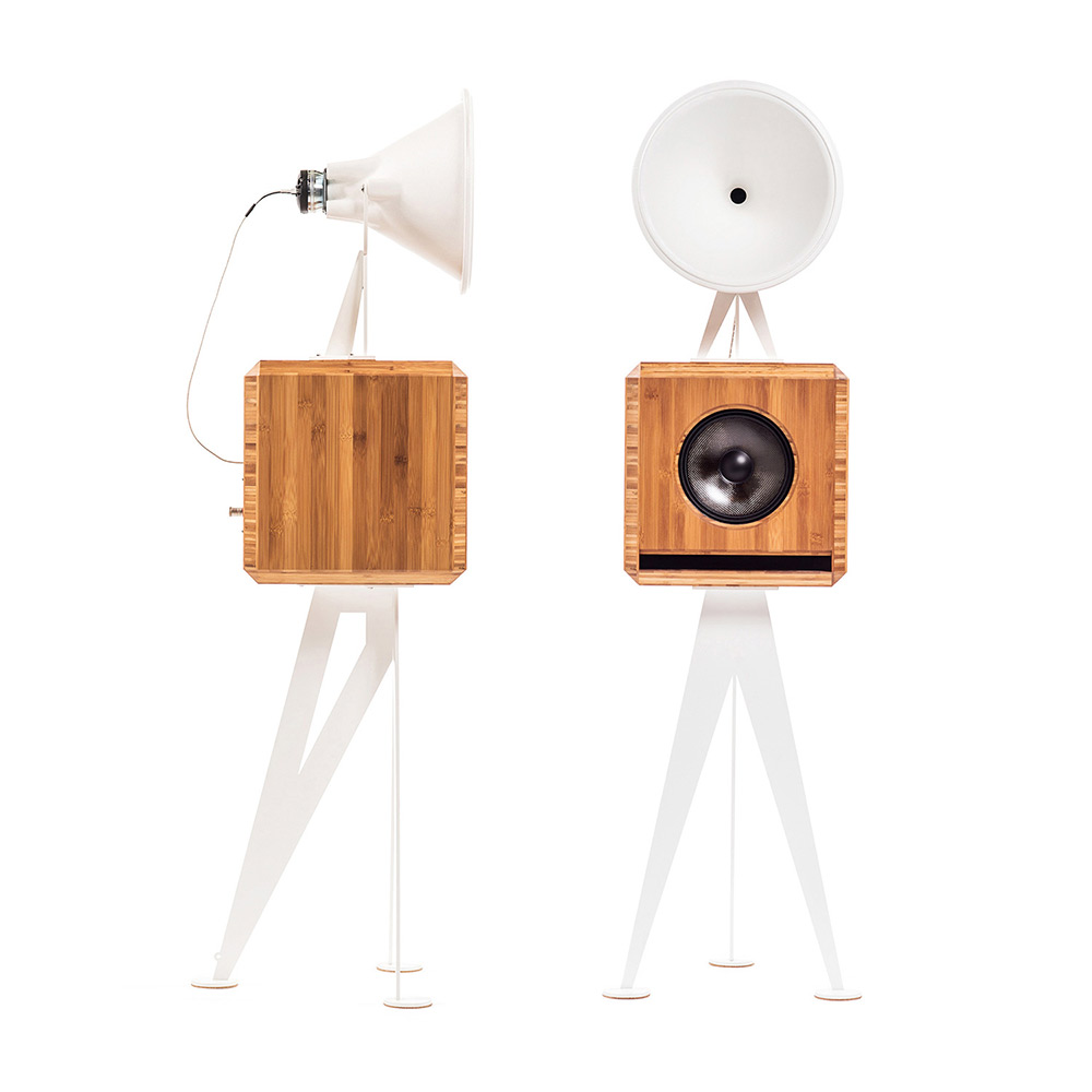 OMA Mini Loudspeaker in bambo white