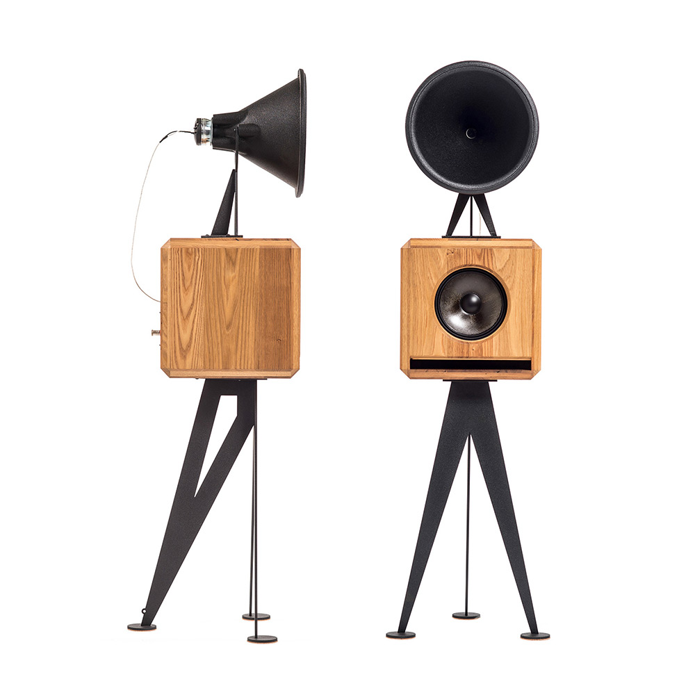 OMA Mini Loudspeaker in chestnut black