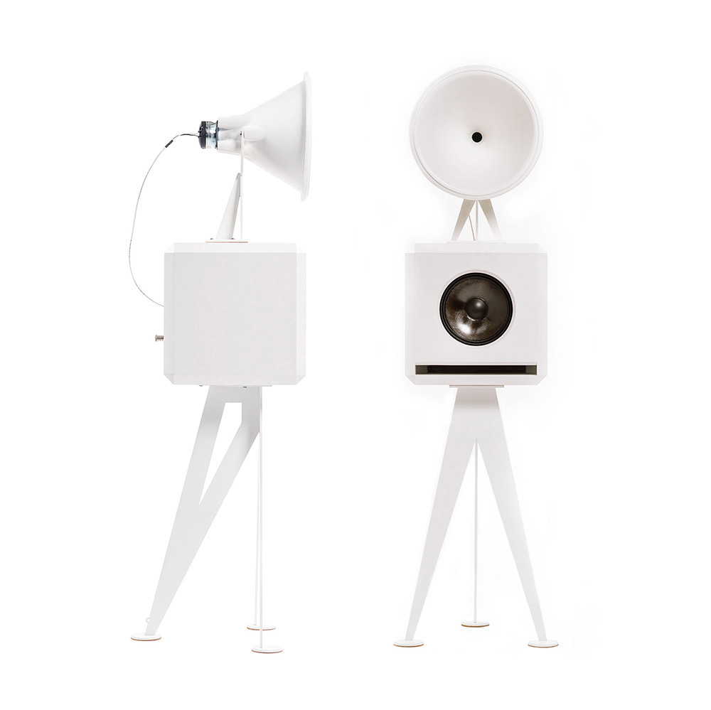OMA Mini Loudspeaker in white white