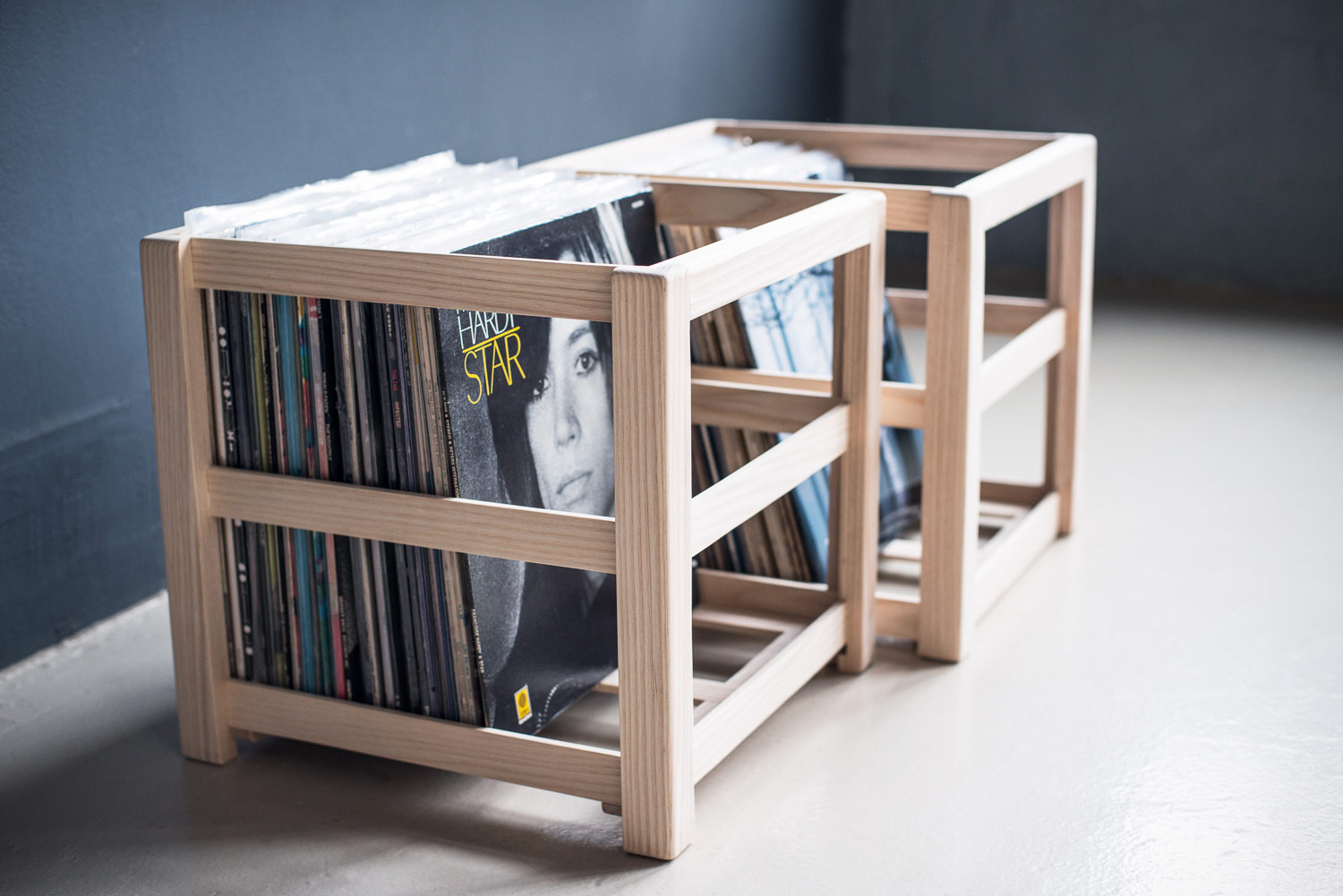 record crate audio-furniture